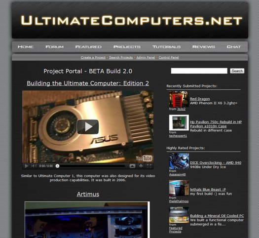UltimateComputers Project Portal
