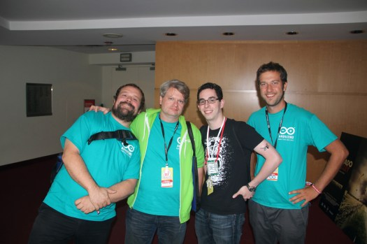 Jeremy with the Arduino Team