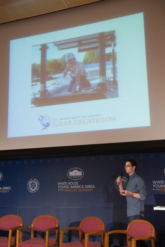Speaking about Sustainable Design at the White House Young America Speaker Series