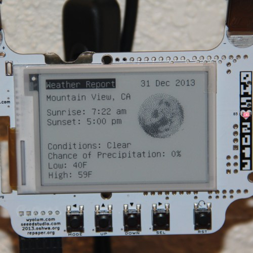 ePaper Weather Station