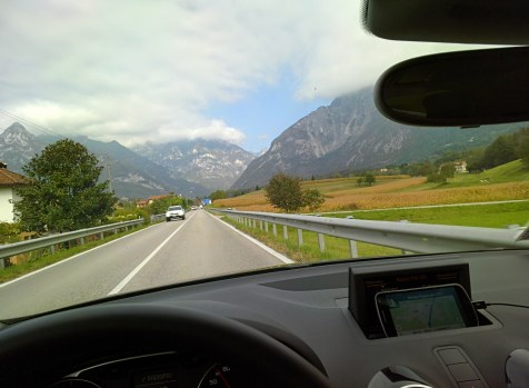 Driving to the Italian Alps
