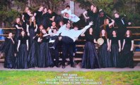 Davis High School students at the Golden Empire choir competition in 2003