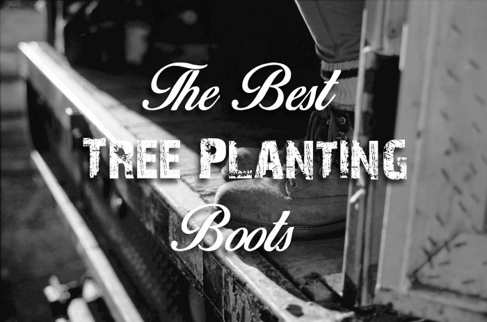 tree planting boots