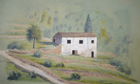 """Old barn, Duro valley 12""""x8"""" £650"""