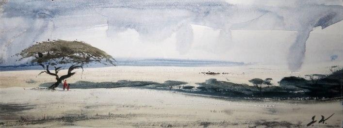 "Amboseli plains £320 8""x 3"""