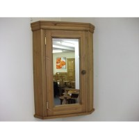 Corner bathroom cabinet with mirrored door. W51cm.