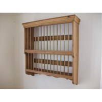 Wall plate rack for 30 plates. W75cm.