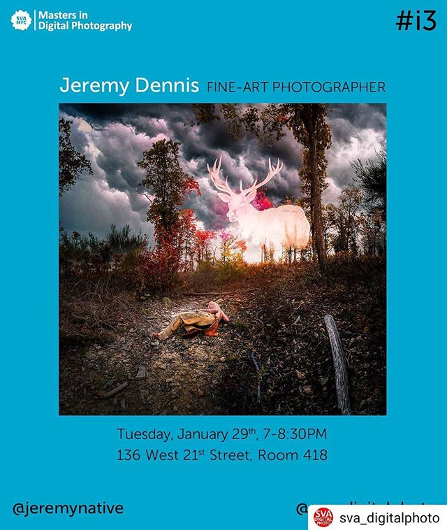 #Repost @sva_digitalphoto• • • • •We are excited to host Jeremy Dennis @jeremynative as our next #i3 speaker. January 29th, 7-8:30pm136 West 21st Street, Room 418FFree and Open to the Public!#i3lecture #photographylecture #indigenousartist