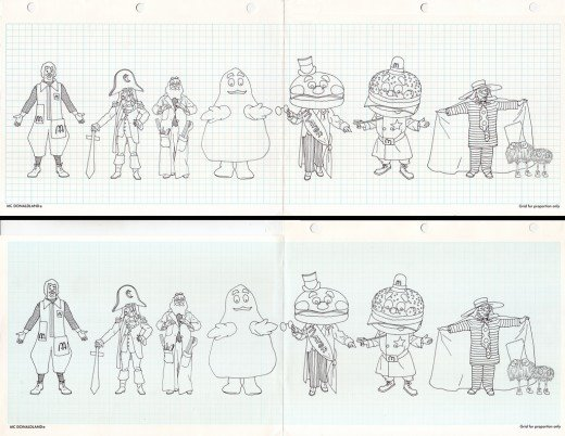 How to Draw 1970s McDonalds Characters