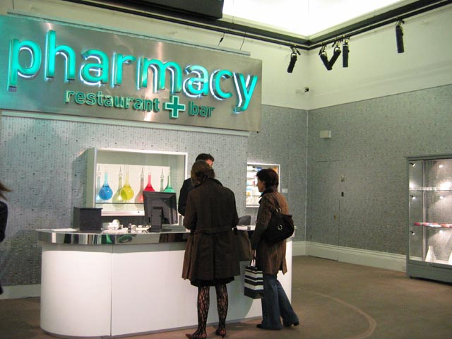 PillThemed Pharmacy Wallpaper by Damien Hirst