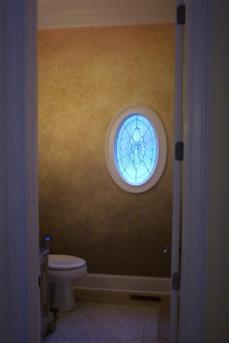 faux bathroom