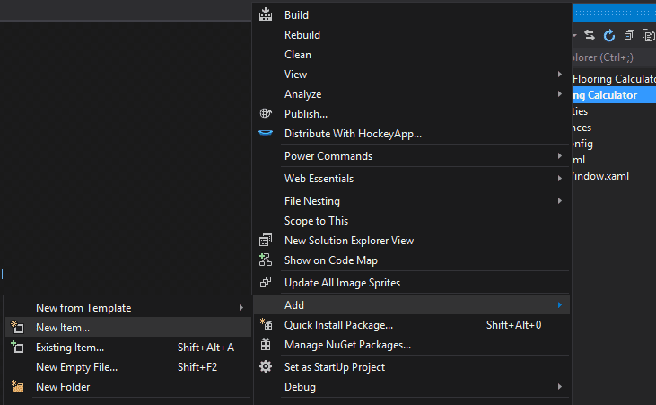 visual-studio-right-click-add-new-item