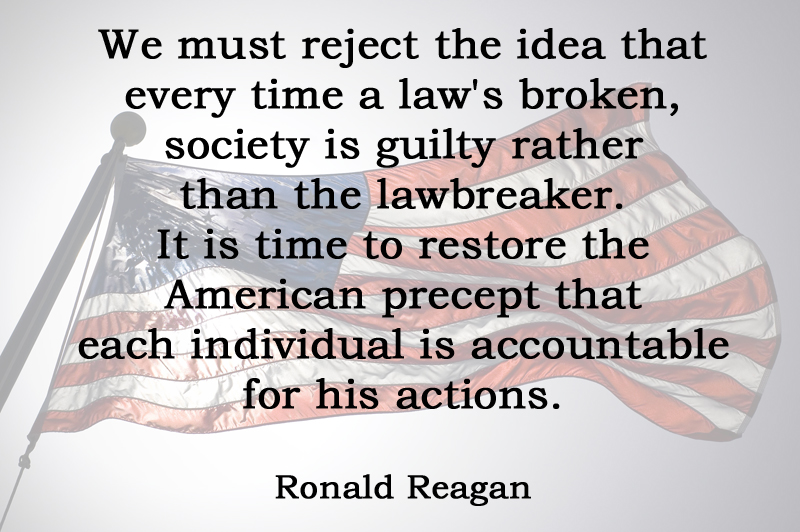 [No.30] Ronald Reagan on Individual Accountability