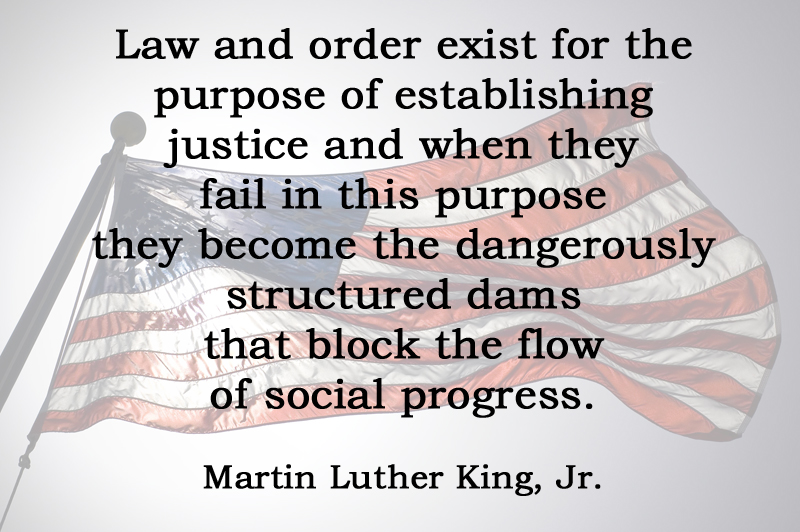 [No.32] Martin Luther King, Jr. on Law and Order