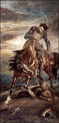 Eugene Delacroix El Rey Don Rodrigo  JerezSiempre