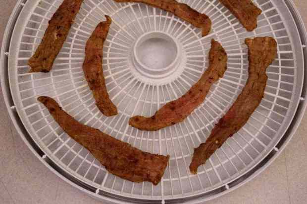 Cajun Beef Jerky on Trays