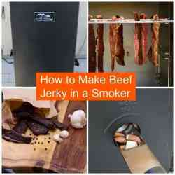 Learn how to make beef jerky in a smoker. Great tasting and better than store bought jerky! | Jerkyholic.com
