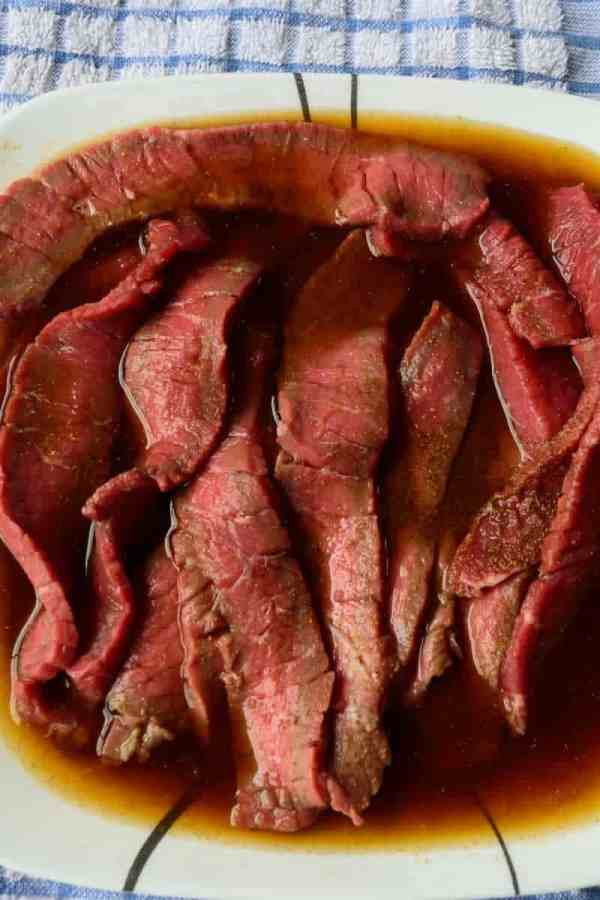 Chinese 5 Spice Beef Jerky Marinating