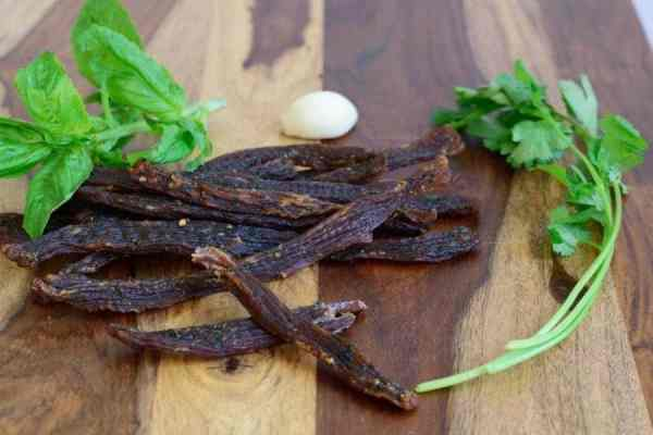 An easy to make Thai Spiced beef jerky that will knock your socks off with flavor | Jerkyholic.com