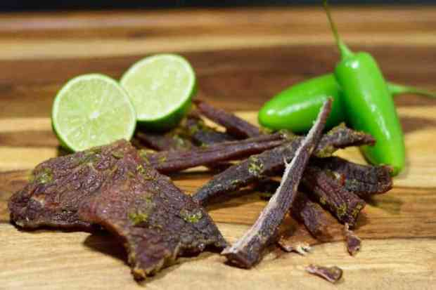 An easy to make jerky that turned out great. You will love the blend of honey, jalapenos, and lime juice!| Jerkyholic.com
