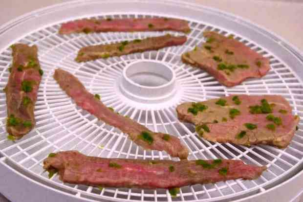 Jalapeno Lime Beef Jerky on Trays