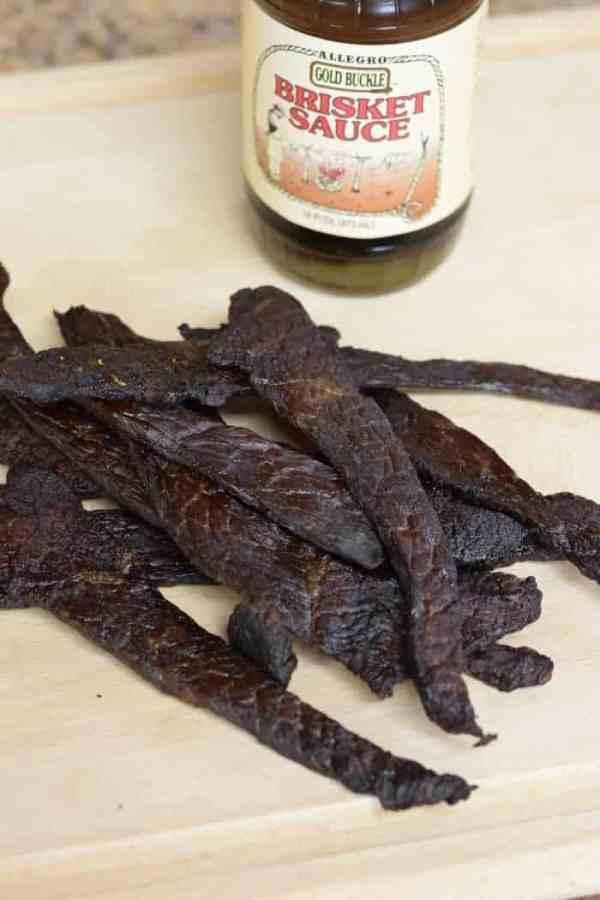 This easy to make brisket marinade jerky is finger licking good! | Jerkyholic.com