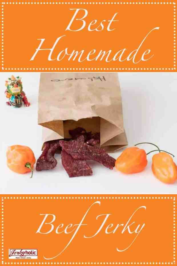 The best beef jerky recipe made with Habanero Peppers is bound for greatness! The spicy kick of the peppers and the saltiness of the Sea Salt really makes this the top jerky recipe ever! | Jerkyholic