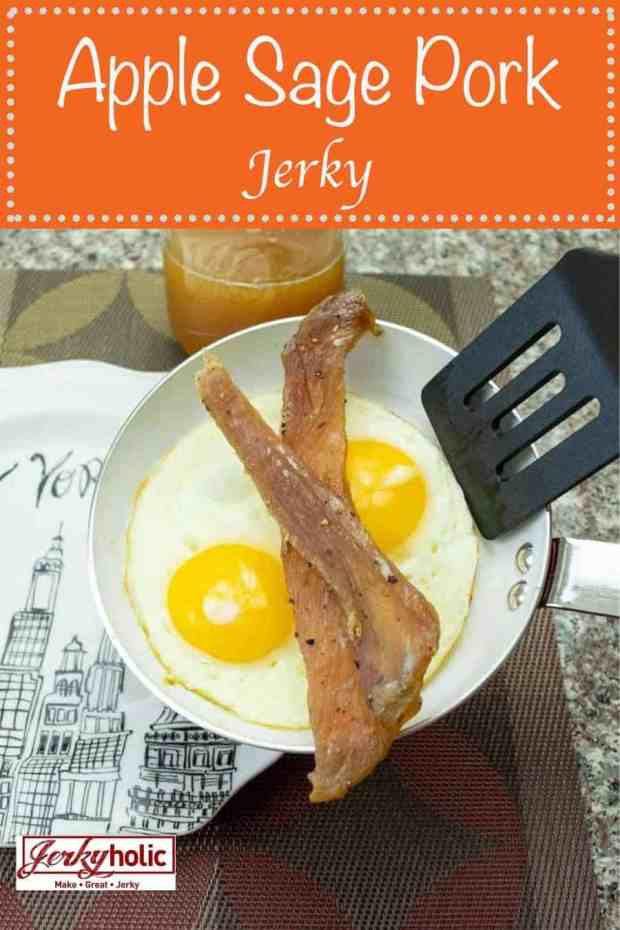 An apple flavored pork jerky that was inspired from a breakfast sausage will be sure to impress your taste buds! Fresh apple juice and apple makes this delicious!