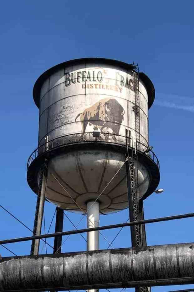 Buffalo Trace water tower