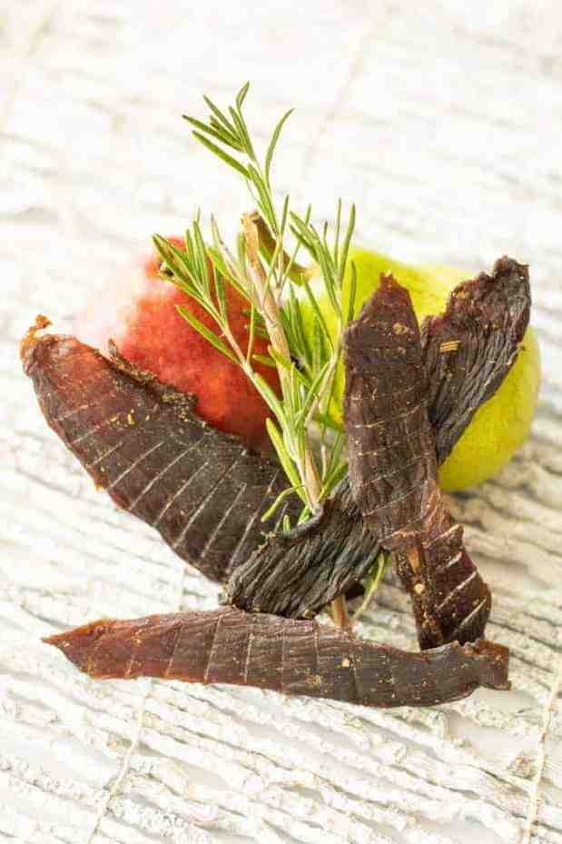 Rosemary Pear Deer Jerky