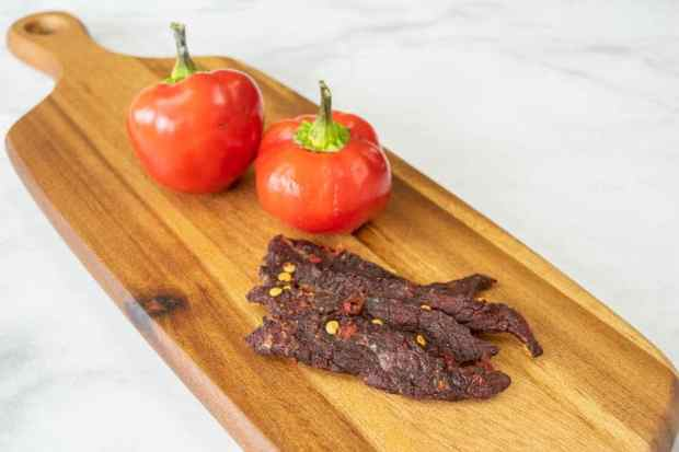 Cherry bomb pepper jerky