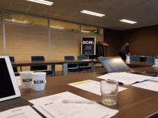 De ruimte waarin de audit van de IT opleiding van de NCOI werd afgenomen.