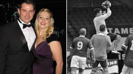 27-08-2013 Doelman Ben Scott verricht heldendaad na rode kaart en redt leven van supporter