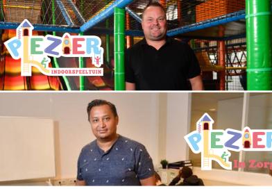 Hayler Tamboer en Jeroen Verhoeven runnen Indoorspeeltuin Plezier en Plezier in Zorg.