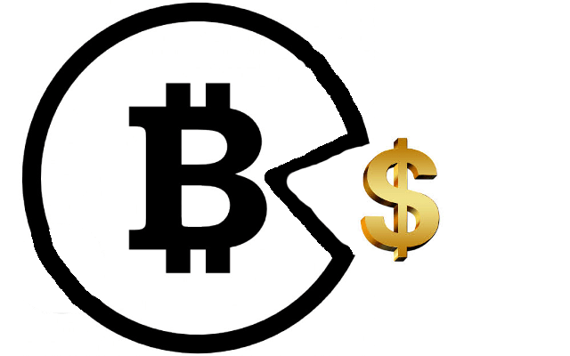 Bitcoin Eating Dollar