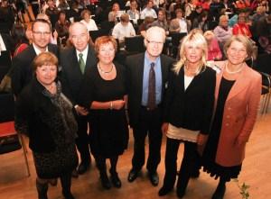 Die Referenten der 33. Fortbildung für Pflegende (v.l.): Margit Purwin, Markus Boucsein, Prof. Dr. Dr. Dr. h.c. Michael Unge-thüm, Prof. Christel Bienstein,  Prof. Dr. Andreas J. W. Goldschmidt, Uta Meurer und Maria Beck. Foto: nh