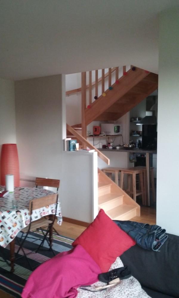 Vatteville la Rue – l'escalier et la cuisine