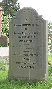 Jerome K Jerome's grave at Ewelme