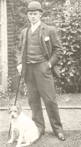 Jerome K Jerome and his dog