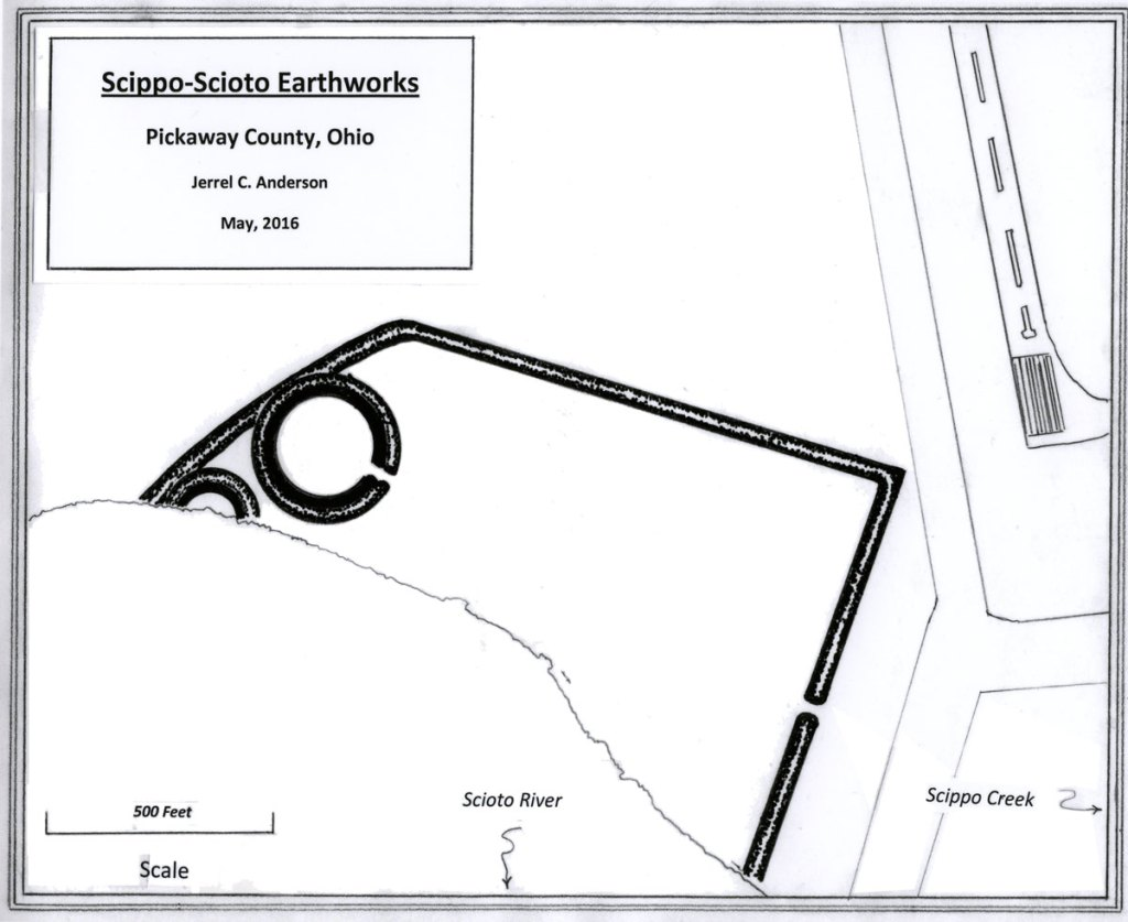 Map of the Scippo-Scioto Earthworks