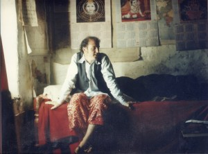 Peace Corps volunteer in Nepal in bedroom