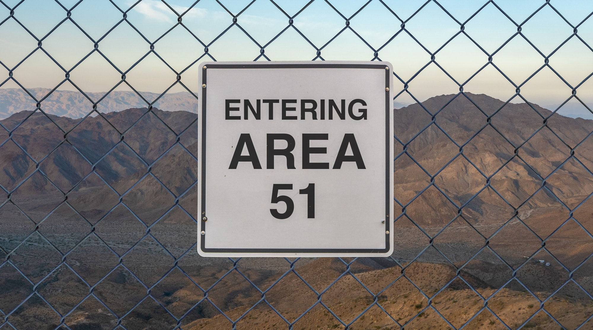 Entering Area 51 Sign