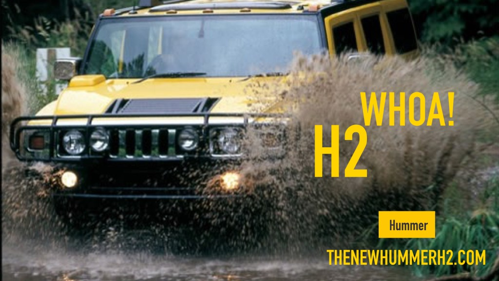 Hummer 2 Crashes through water - H2 Whoa!
