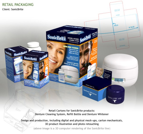 Retail Cartons Render