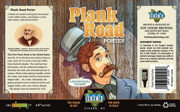 Plank Road Porter Beer Label