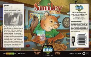 Smiley Nut Brown Ale Beer Label
