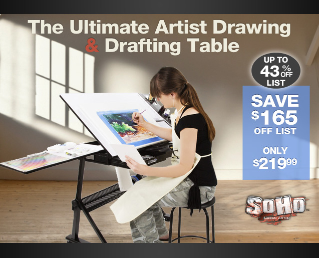 Drawing and Drafting Table and Chair Set by Soho  Jerrys
