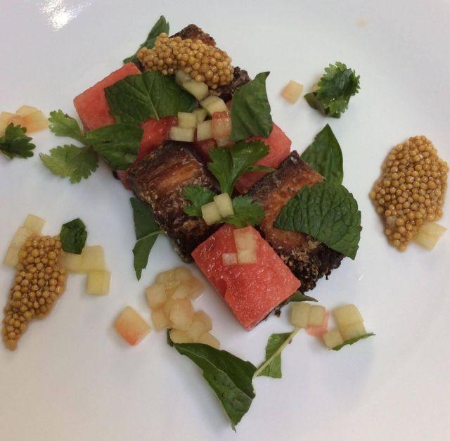 Chilltown Kitchen BBQ Pork Belly w/ Watermelon