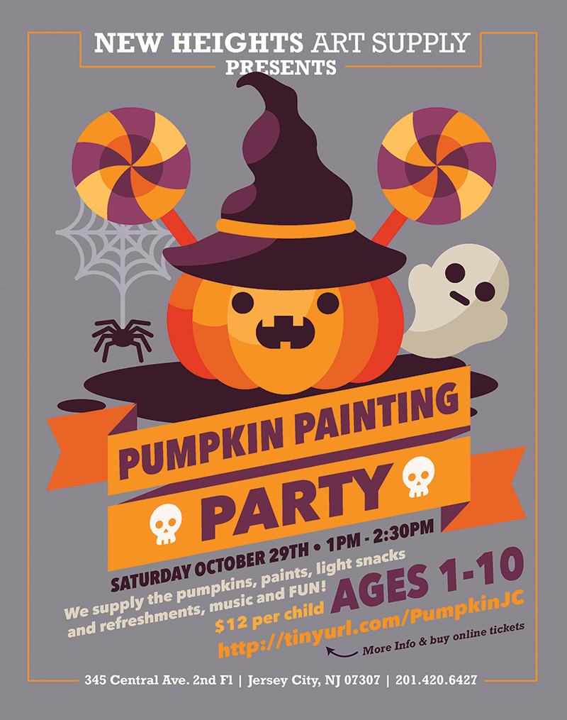 what pumpkin painting party at new heights art supply when saturday october 29 from 1pm 230pm where new heights art supply at 345 central avenue - Halloween Music For Parties