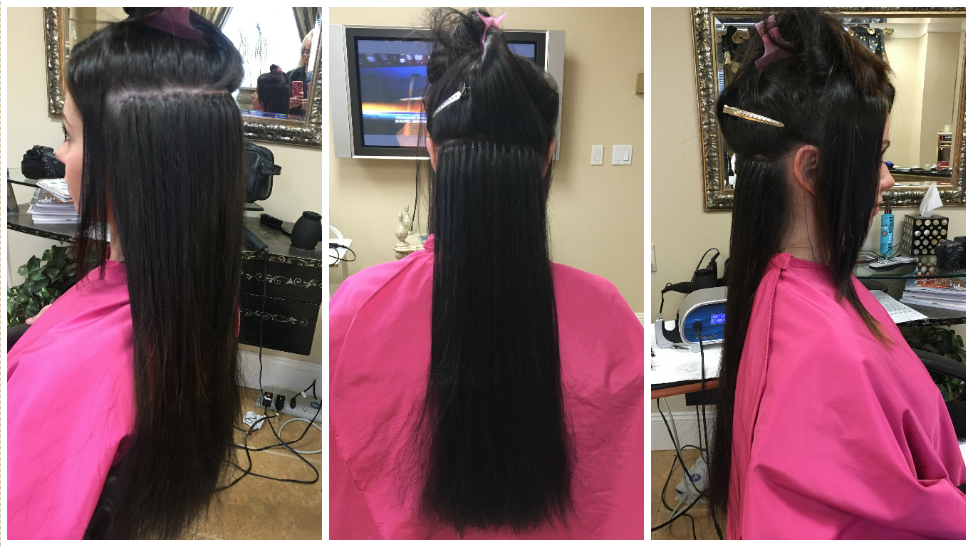 My experience with cold fusion hair extensions jersey girl talk the color of my hair extensions was 1b which is a very dark brown almost black the color matches the base of my hair however i do have some lightening on solutioingenieria Images
